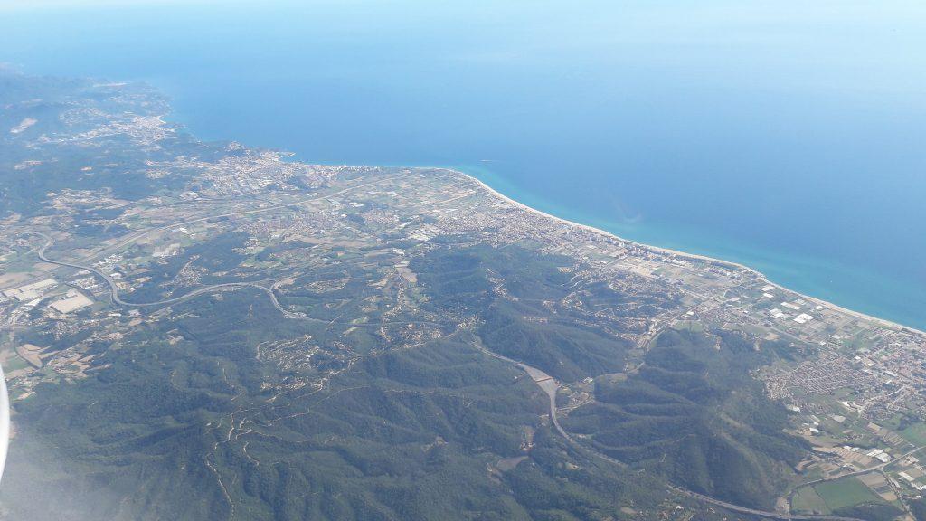vue sur la méditerrannée Barcelone