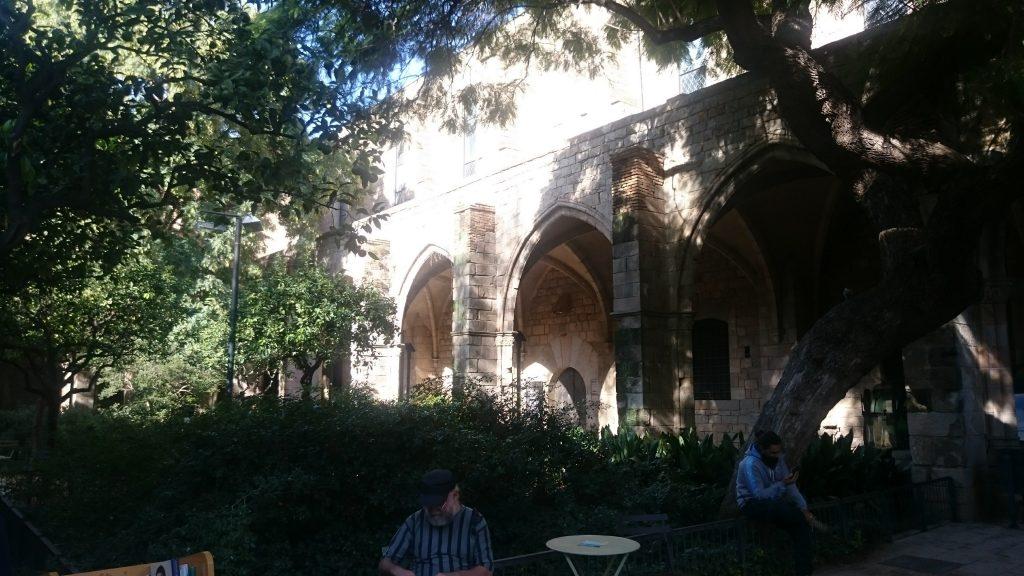 patio antic santa creu hospital barcelone