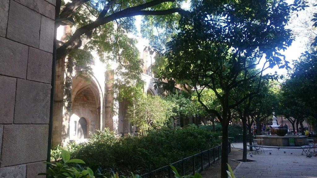 patio antic hospital barcelone