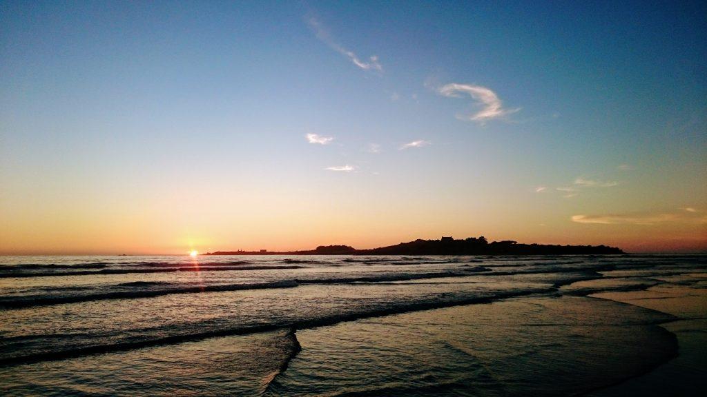 santec ile de siek coucher soleil